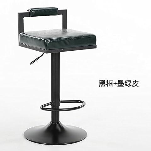 Upper-Vintage iron bar tabouret de bar tabouret de bar fauteuil élévateur rotatif chairE élevée