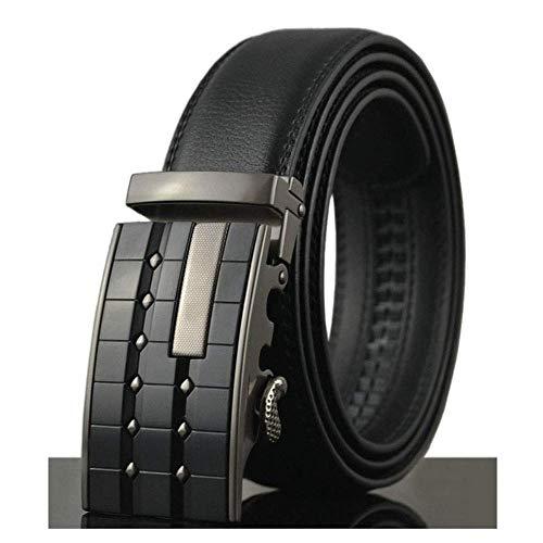 Men's Belt Fashion Business Automatic Buckle Belts Luxury Genuine Leather Belt -