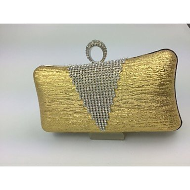 pwne Womenleather Art Formeller Abend Tasche Pink/Gold/Silber/Grau Gold