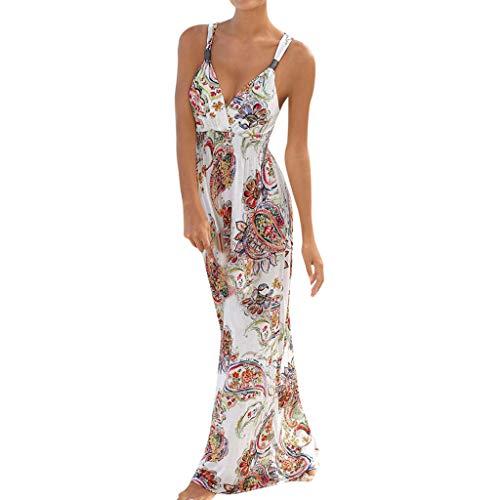 mian Ärmel mit V-Ausschnitt gedruckt Knöchel-Längen-Kleid-Partei-Kleid ()