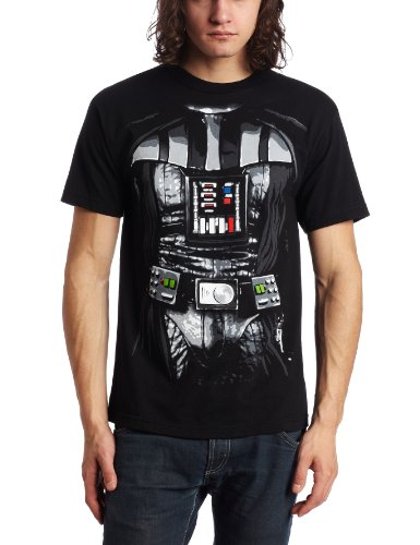 Star Wars Darth Vader t-Shirt Costume da Uomo, Nero Black XX-Large