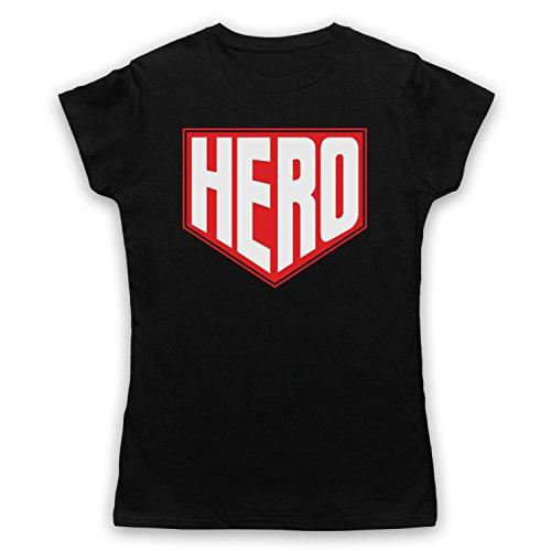 Hero Hipster Damen T-Shirt Schwarz