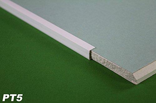 2 Meter PVC Kantenprofil für Gipskarton Platten Rigips 12,5mm Einfassprofil PT5