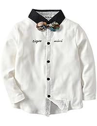 QTONGZHUANG Nueva Boutique de Ropa para niños niños Camisa de Manga Larga de algodón para niños Camisa de bebé Rebeca para niños,…