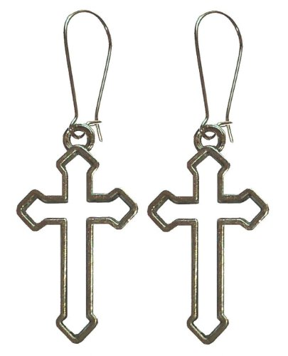 Large Cross Earrings. Low cost for fancy dress.