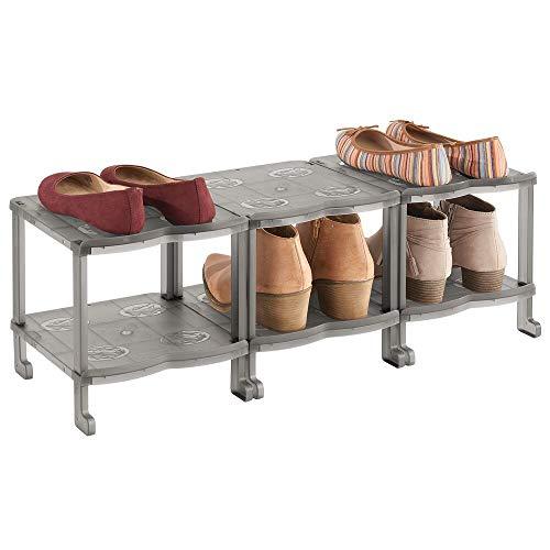 MDesign Mueble zapatero - Zapatero pequeño con seis baldas para sandalias, botines y botas - Organizador...
