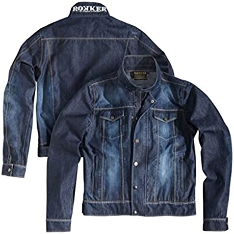 rokker Revolution Jacket Azul Impermeable