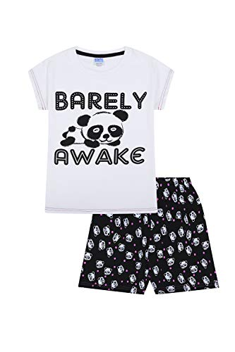Girls Barely Awake Panda Short P...
