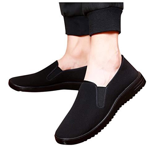 Dorical Deslizamiento Ligero Casual de Colores sólidos de Moda Masculina Zapatos cómodos de Mocasines...