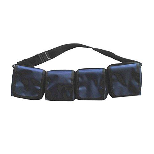 MagiDeal Pesados cinturones de Pesas de Bolsillo Bolsa de Buceo con Equipo de Buceo - 4 bolsillos