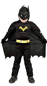 Guirca-82711 Batman Disfraz 7-9 años Black Hero 4 pzas, Multicolor (82711)