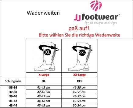 JJ Footwear Damen Stiefel Leder Cardiff XL Schwarz