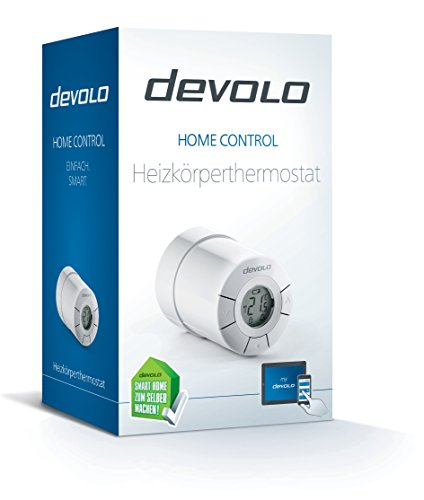 Devolo Home Control Heizkörperthermostat weiß (Heizungssteuerung Smart Home per iOS/Android App, Smart-Home Aktor, Z-Wave, leise, einfache Installation, komfort, Sensor) - 2