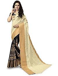 Venisa Women's Cotton Saree (Venisa Bella 4004_Beige)