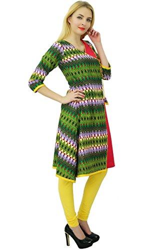 Phagun Femmes Ethnique Motif Top Coton Résumé Designer Kurti Tunique Multicolore