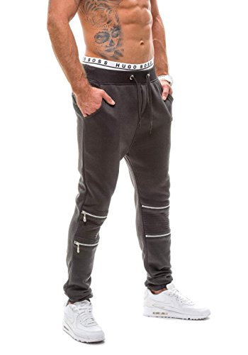 BOLF Herrenhose Baggy Sporthose Trainingshose Jogginghose Fitnesshose Mix 6F6 Schwarz_K09