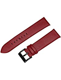 WATCH Reemplazo Banda, happytop piel deportivas correa de reloj pulsera correa de muñeca para Samsung Gear S3frontera, hombre, rojo, S