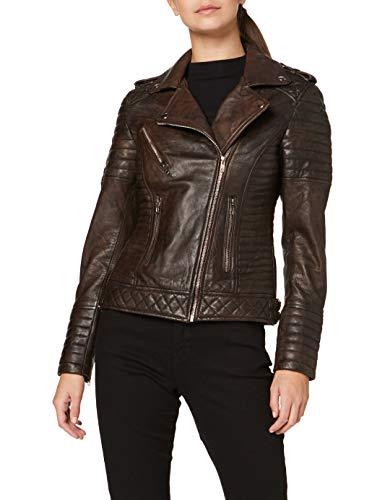 Urban Leather Fashion Lederjacke -Michelle, Braun, 38 (M)