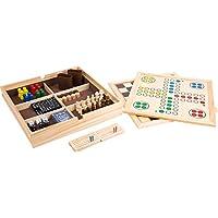 Bavaria-Home-Style-Collection-Holz-Spielesammlung-Reise-Gesellschaftsspiele-fr-die-ganze-Familie-Spiele-Kassette-aus-Holz-Dame-Schach-Domino-Karten-Spiele-UVM-9-in-1-Geschenk-Ideen