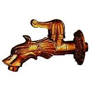 Vette cdf03707Wasserhahn künstlerisch für Brunnen, Messing Hebel, Gold Antik, Messing