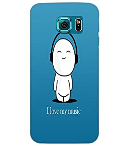 PRINTSWAG I LAVE MUSIC Backcover For Samsung Galaxy S7 Edge