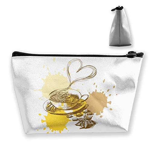 Trapez-Kulturbeutel Tragbare Reisetasche Glas Heiße Kaffeetasche