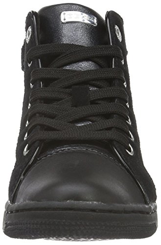 Geox Creamy E, Sneakers Hautes Fille Schwarz (BLACKC9999)
