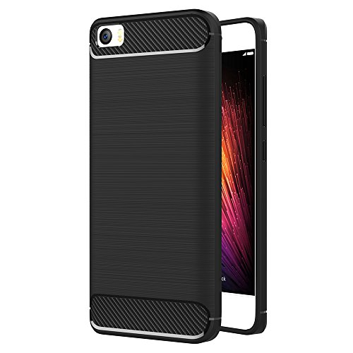 Funda Xiaomi Mi5, AICEK Xiaomi Mi 5 Funda Negro Gel de Silicona Xiaomi Mi5 Carcasa Fibra de Carbono Funda para Xiaomi Mi5 5.0'