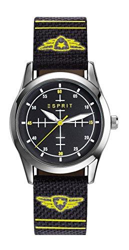 Esprit Jungen-Armbanduhr TP90651 BLACK Analog Quarz Nylon ES906514001