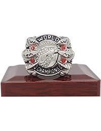 Luxuon SolitariosCampeonato Ring, 2019 joyería Raptors Anillo Réplica Anillo de Compromiso de circonio cúbico para el Novio Regalo,12