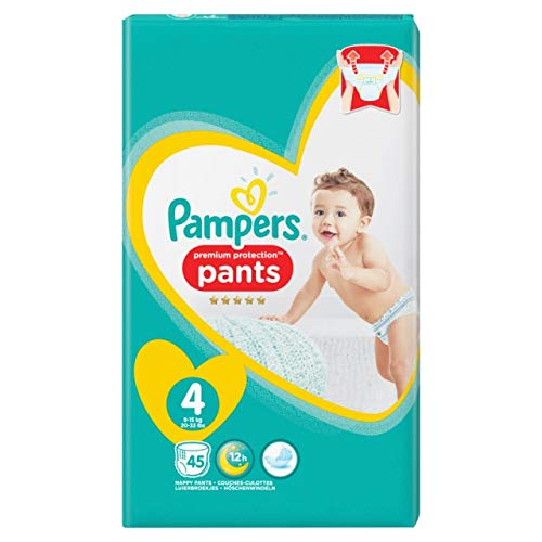 Pampers Premium Protection Pants Gr.4 Maxi 9-15kg Jumbopack, 45 Stück