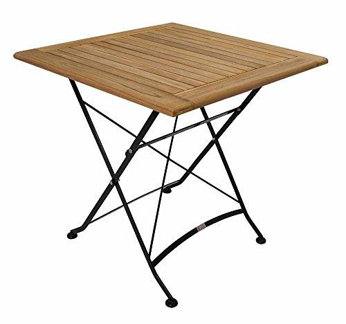 Gartentisch, Klapptisch, Gartenklapptisch, Balkontisch, Terrassentisch, Teakholz, Holztisch, Stahlgestell