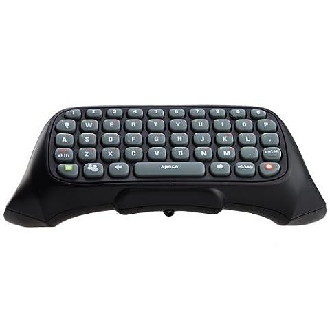 VersionTech Manette Chatpad Mini Clavier contrôleur Keyboard Game Texte Messenger pour Xbox Wireless Controller Messenger pour Xbox 360-Noir