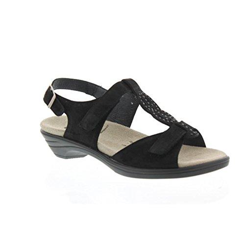 Semler U4055-040-001 Ute Damen Sandale Weite H Schwarz
