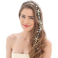 Simsly wedding Starfish capelli fasce Vines decorativo da sposa perla  capelli accessori per spose e damigelle 286363e4abe8