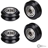 3DINNOVATIONS 3D Printer CNC Openbuilds POM Wheels with 625zz Bearing Idler Pulley Gear Passive Round Wheel Perlin Wheel for