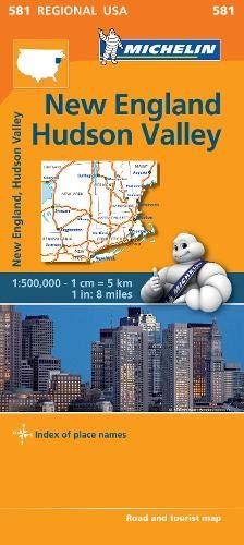 New England, Hudson Valley - Michelin Regional Map 581 (Michelin Regional Maps) - New Road Map England