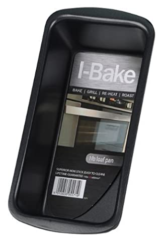 I-Bake 1 lb Loaf Pan, Black by I-Bake