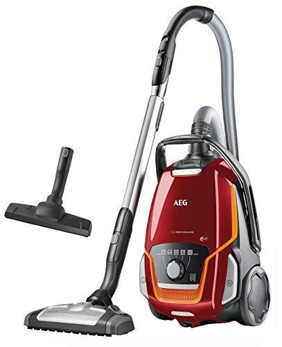 AEG UltraOne VX9-1-FFP mit Beutel EEK A (850 W, 5 l Staubbehältervolumen, mit Hartbodendüse, 12 m Aktionsradius, waschbarer Allergy Plus Filter) rot