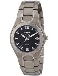 Boccia 3558-03 - Reloj analógico de cuarzo para hombre, correa de titanio color plateado