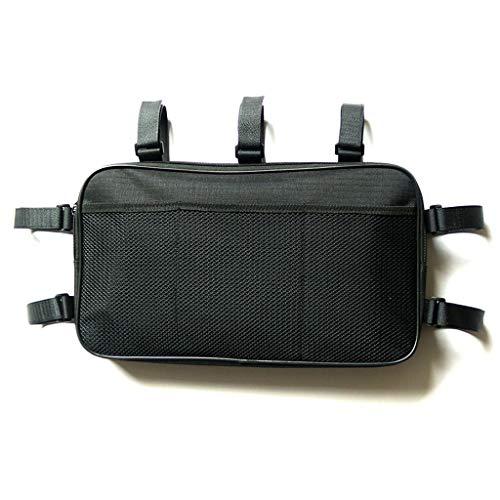 WUHX Schwarze Umhängetasche, wasserdichte Aufbewahrungstasche für Rollstühle aus Oxford-Stoff, 38 * 22 * 4,5 cm