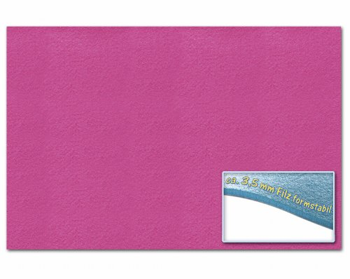 folia 510323 – Bastelfilz 30 x 45 cm, ca. 3,5 mm, 1 Bogen, rosa