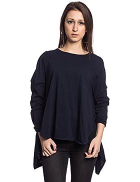 [Patrocinado]Abbino IG006 Langarm Shirts Tops Para Mujeres - Hecho EN Italia - Colores Variados - Entretiempo Primavera Verano...