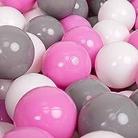 KiddyMoon L'ensemble De Balles Plastique ∅7Cm pour Piscine Enfant Fabriqué en EU