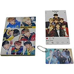 BTS Bangtan Boys 2019 Scheduler Schedule Book Planner Calendar with Instagram Photo Card, Key Chain Photo Card