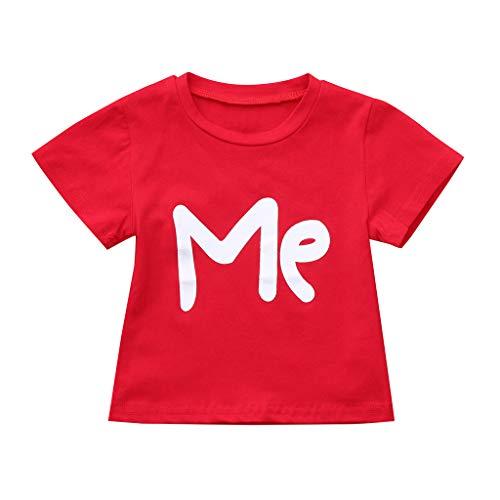 Malloom-Bekleidung Männer Daddy Valentine Brief Print Pullover Bluse T-Shirt Tops Familie Kleidung Eltern-Kind-Kleidung