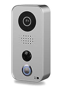 """DoorBird D101S """"Strato-Silver-Edition"""" WLAN-Video-Türsprechanlage mit Edelstahl-Frontplatte, Appsteuerung"""