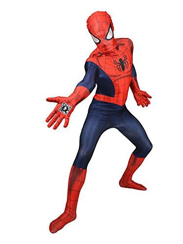 Marvel Spiderman Digital Morphsuit Lizenz Ware blu rosso