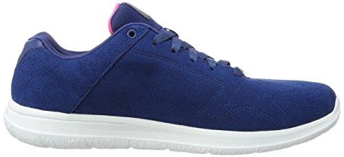 Skechers Go Walk CityChallenger, Low-Top Sneaker donna Blu (Blu (Nvw))