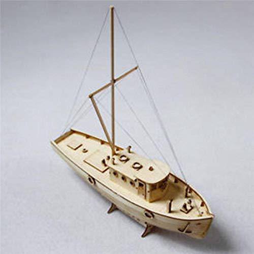 POTOLL Modellbausatz Schiff Wasserfahrzeug-Modellbausätze Model Schiff Hölzerne Segelboot Modellbau Kits DIY Segelmodell Kits Schiff Montage Dekoration Spielzeug Geschenk Maßstab 1:50 (Hölzerne Schiffe-kits)